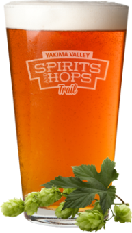 Spirits and Hops Trail beer glass